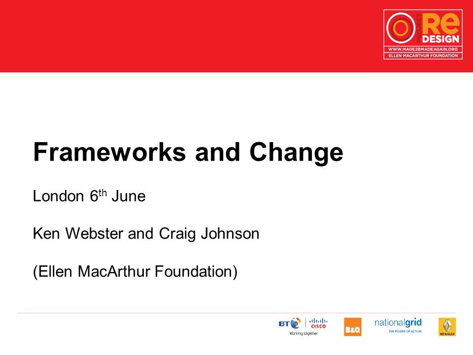 Frameworks and Change London 6 th June Ken Webster and Craig Johnson (Ellen MacArthur Foundation)