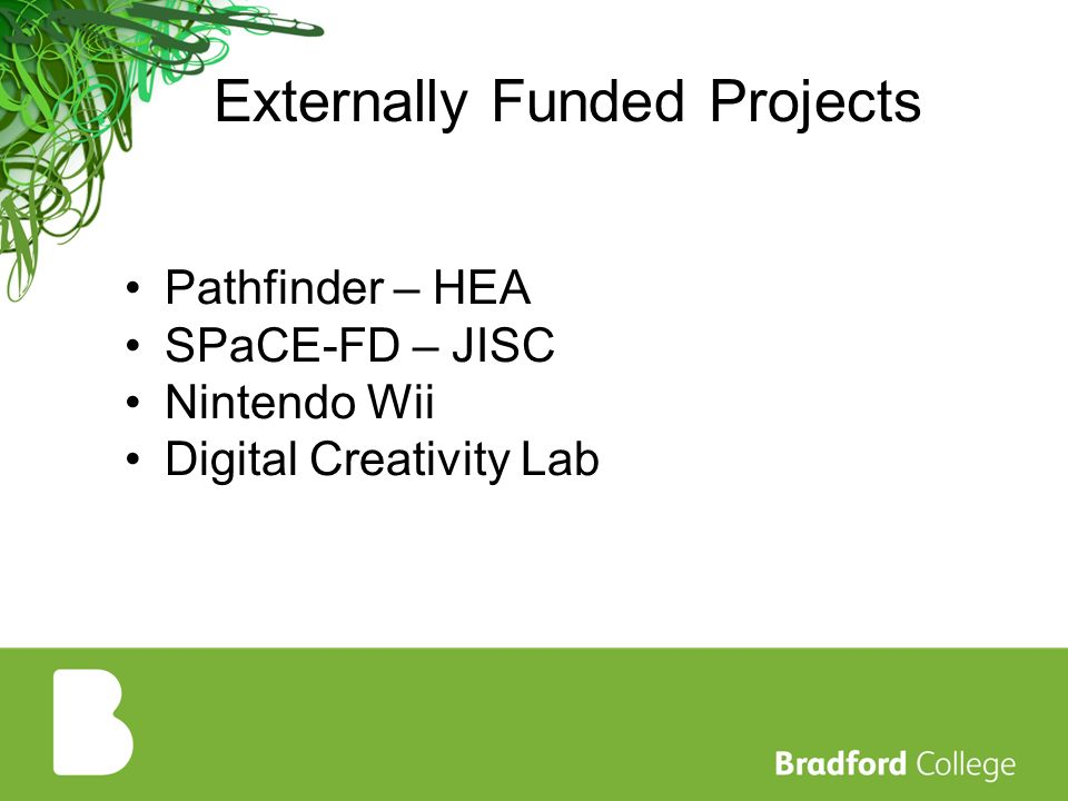 Externally Funded Projects Pathfinder – HEA SPaCE-FD – JISC Nintendo Wii Digital Creativity Lab
