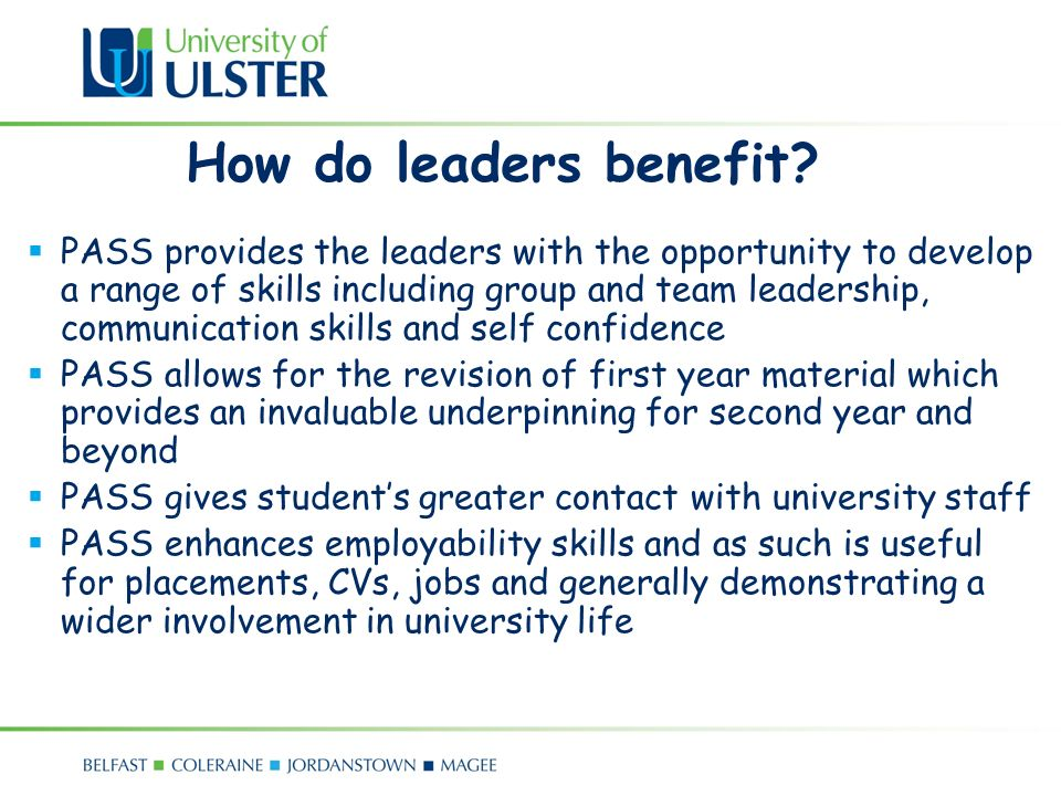 How do leaders benefit.