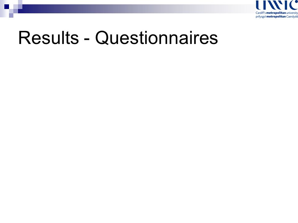 Results - Questionnaires