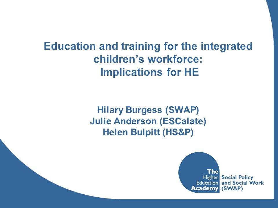 Research Review Methodology Leads from each HEA Subject Centre asked to identify up to 3 key journals in their own discipline (or involving their own discipline with others) considered to be the most likely outlets for publication of papers about the involvement of HE in Integrated Childrens Services.