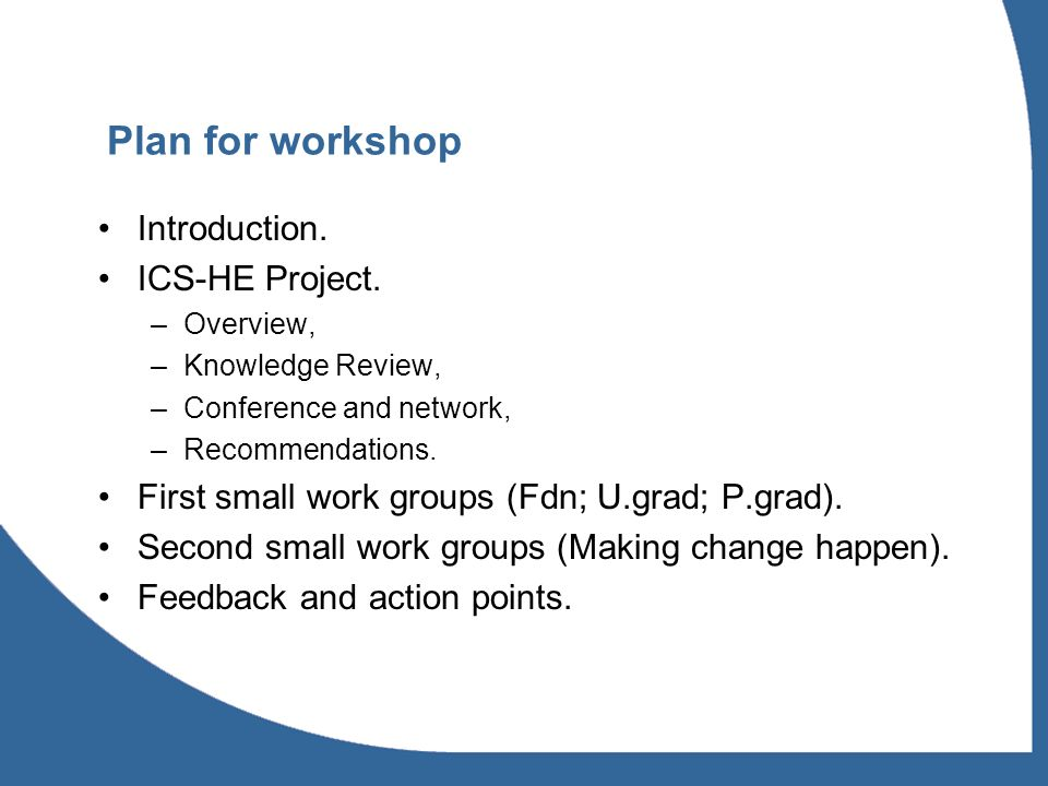 ICS-HE Project Overview Integrated Childrens Services in Higher Education (ICS-HE).