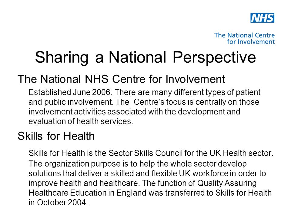 Realising the Potential Future workforce: ensuring that all commissioned healthcare education and training programmes are patient focussed involving service users at every level: in the commissioning, design, delivery and review.