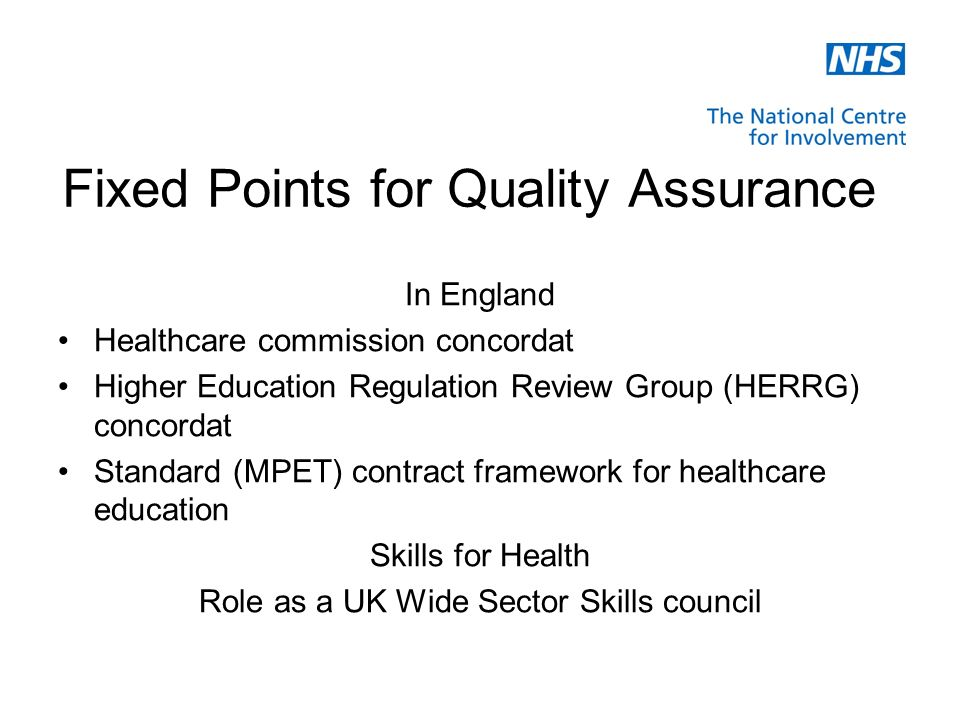 Putting the Colour in the Story The Quality Assurance Framework for healthcare Education in England relates to more than… £1.5 billion per year 75,000 students 80 HEIs and partner healthcare education providers 2,000 healthcare education programmes 40,000 placement settings