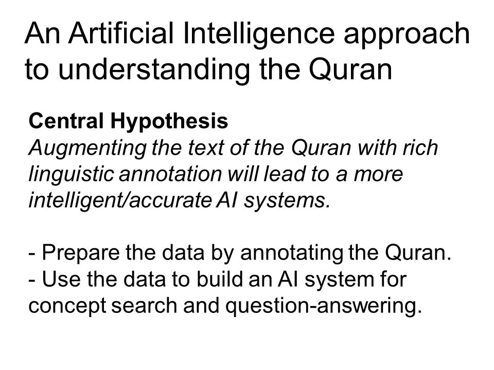 Corpus resources for learning Arabic to understand the Quran Augmenting the Arabic text of the Quran with rich linguistic annotation will help learners to understand Quranic Arabic.