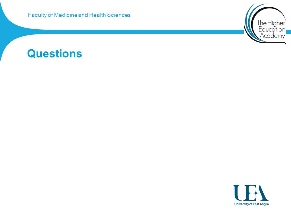 Faculty of Medicine and Health Sciences Questions