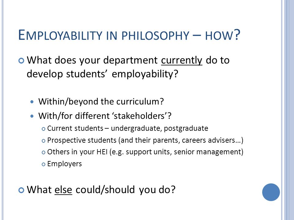 E MPLOYABILITY IN PHILOSOPHY – HOW .