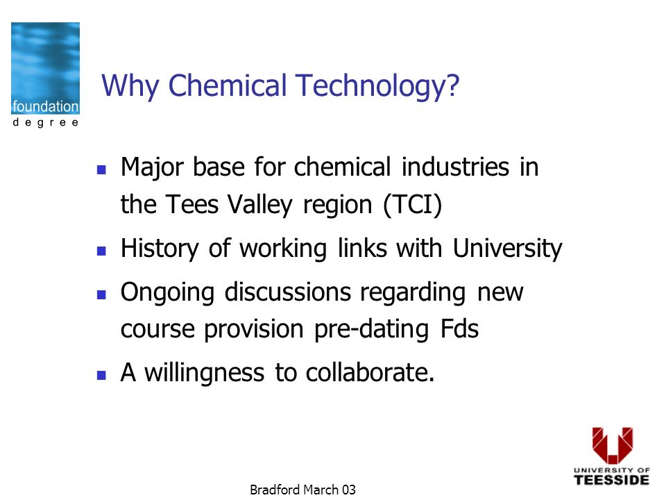 Bradford March 03 Why Chemical Technology.