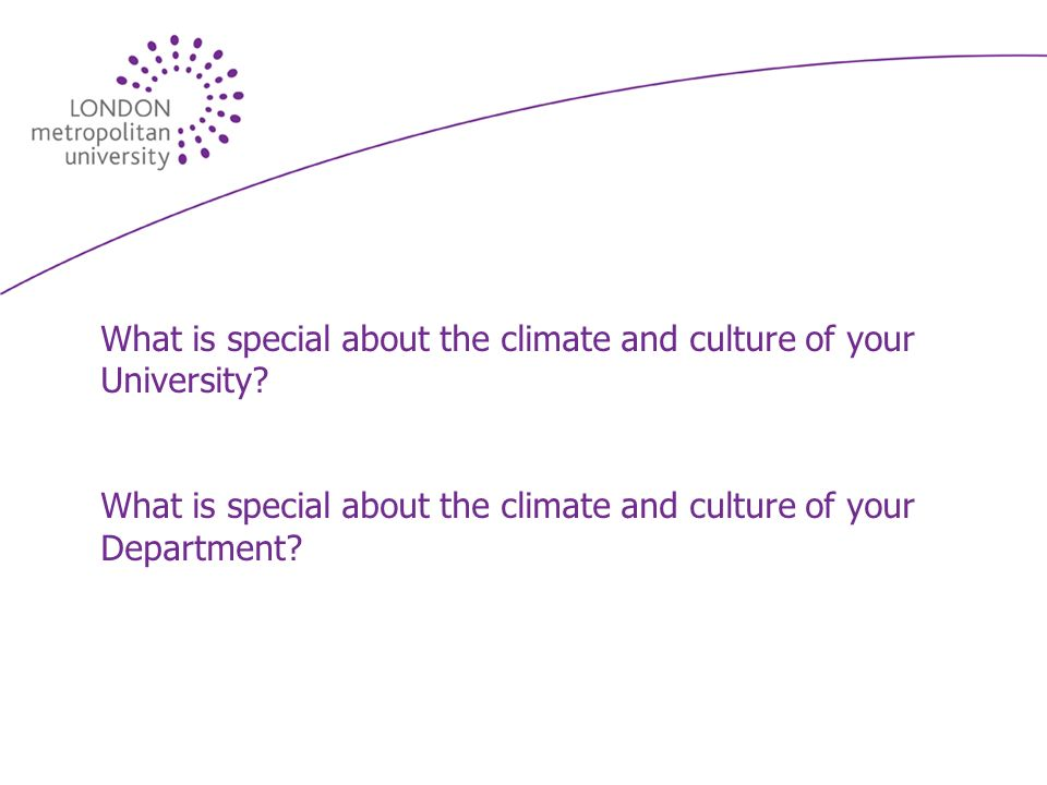 What is special about the climate and culture of your University.