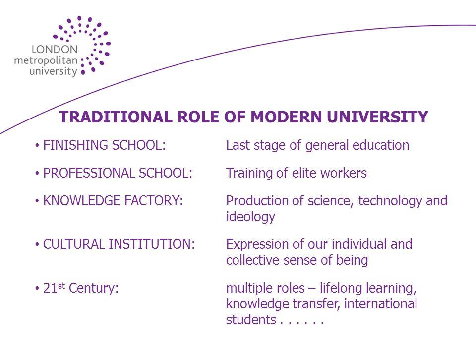 THE UNIVERSITY IDENTITY CRISIS The University: Redundant as an Idea.