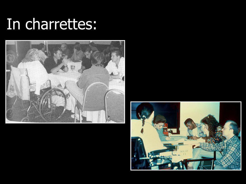 In charrettes: