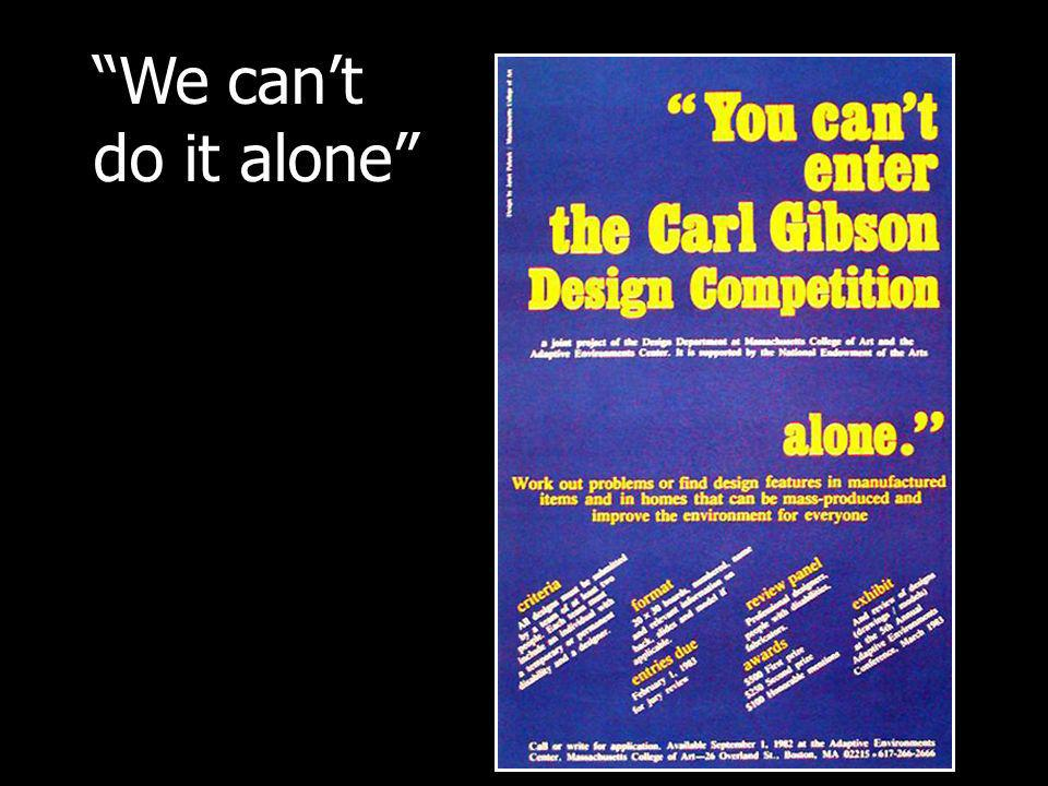 Research with designers worldwide 33 key informants, all professionals Early interests, career development, inspirations, obstacles Led to book, Building a World…online & in print Network of Designers with Disabilities Continuing effort to encourage careers in design Daniel Hunter, Researcher