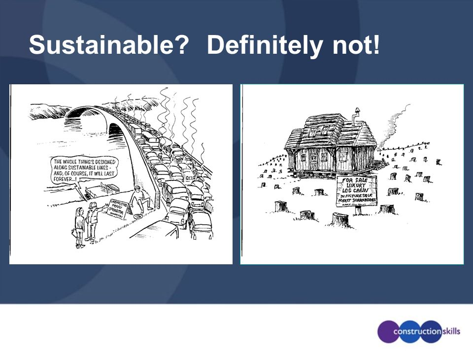 Sustainable? Definitely not!