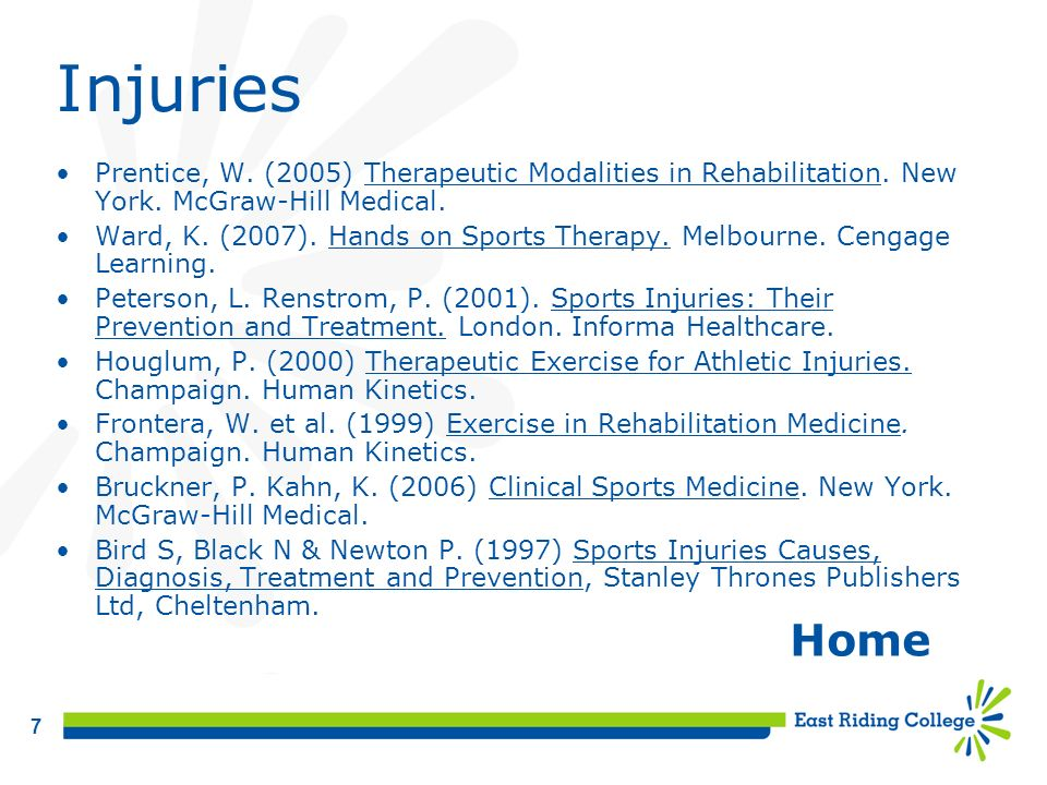 8 Massage Ward, K.(2007). Hands on Sports Therapy.
