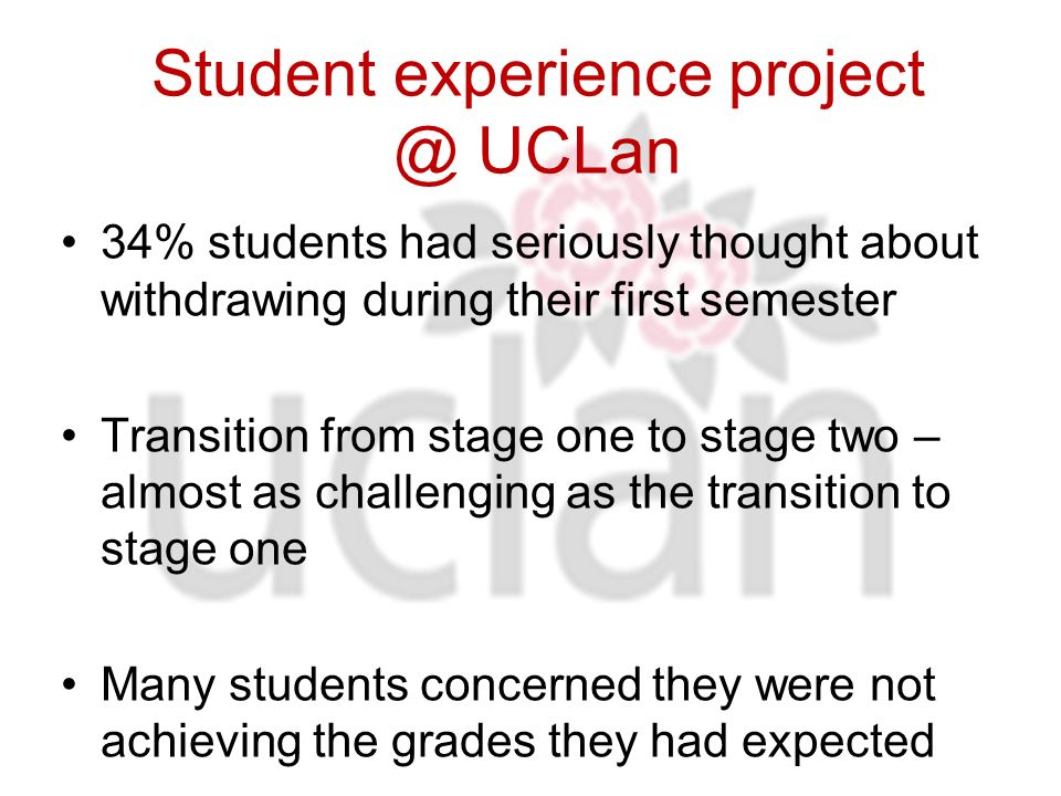 Supporting student transitions: 4 Central Retention Initiatives