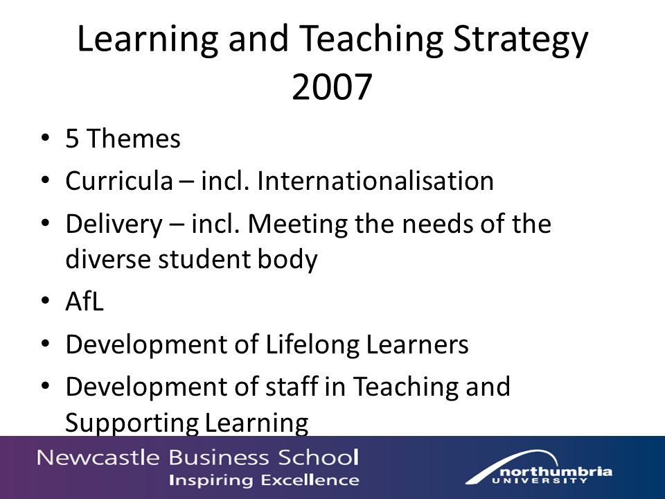 Learning and Teaching Strategy 2007 5 Themes Curricula – incl.