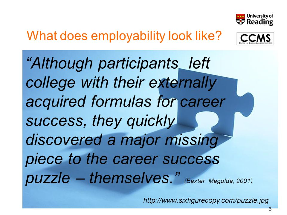 What does employability look like.