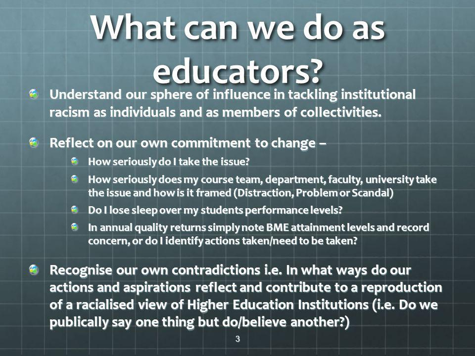 What can we do as educators.