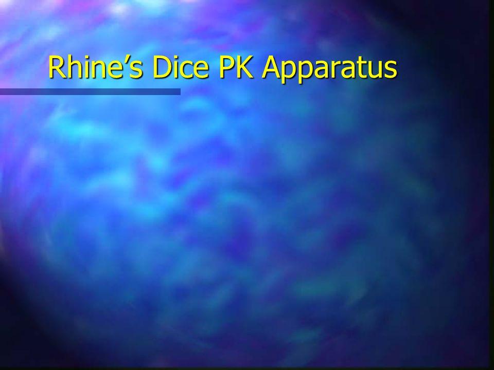 Rhines Dice PK Apparatus