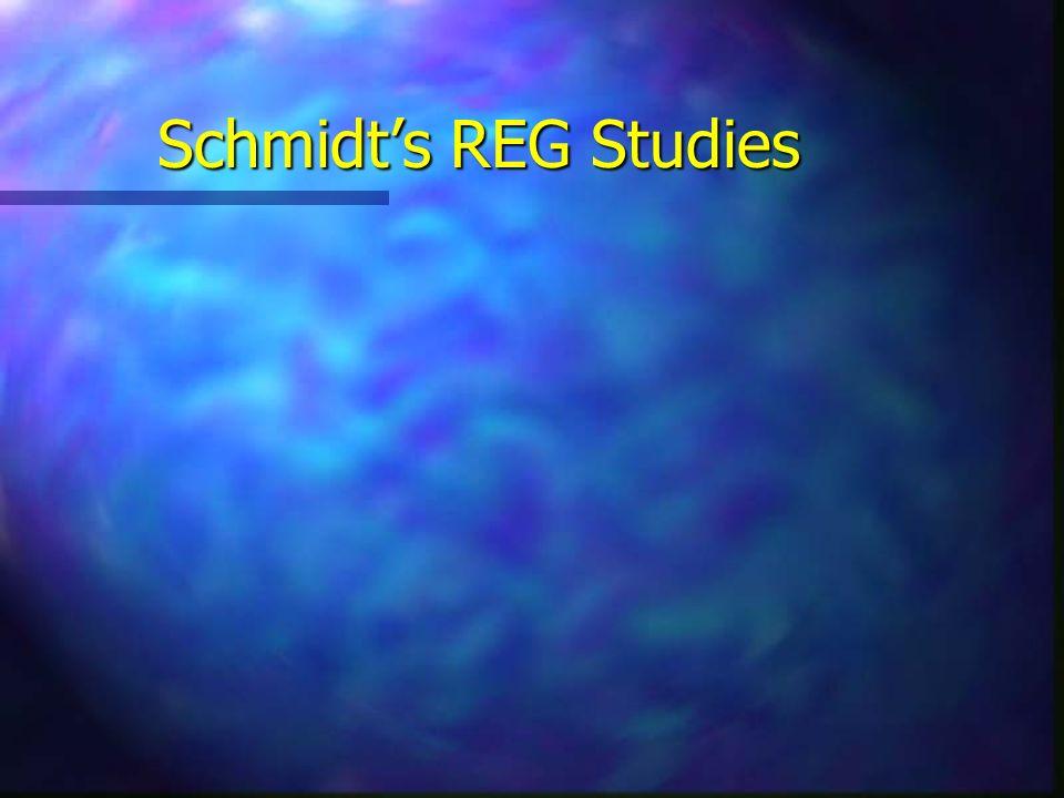 Schmidts REG Studies