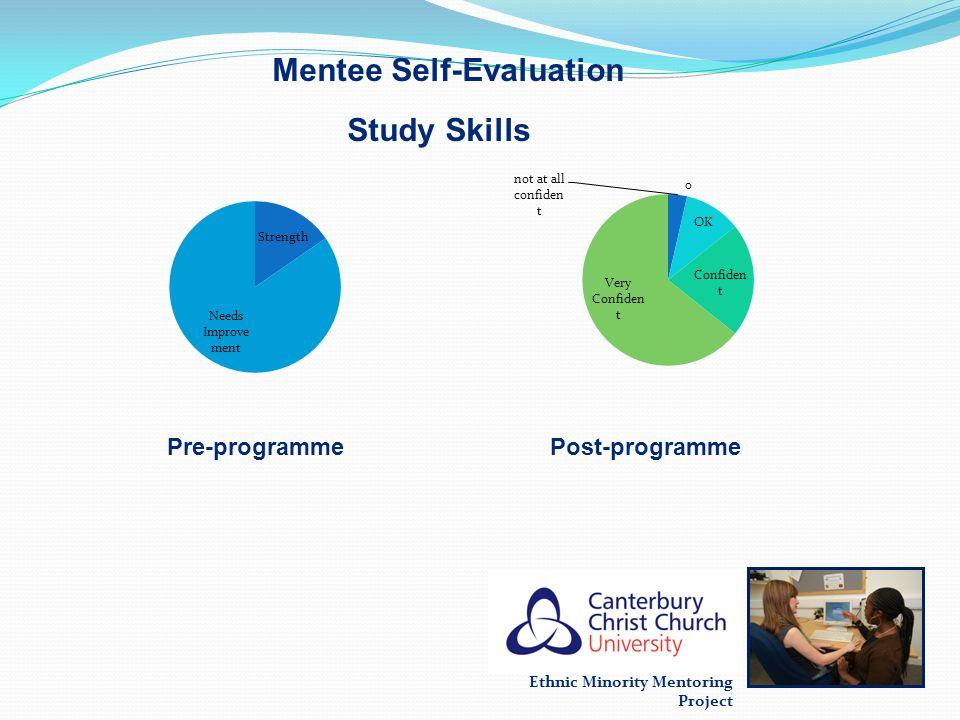Ethnic Minority Mentoring Project Mentee Self-Evaluation Pre-programmePost-programme Study Skills