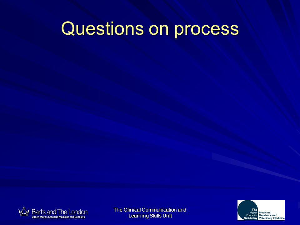 12 Questions on process