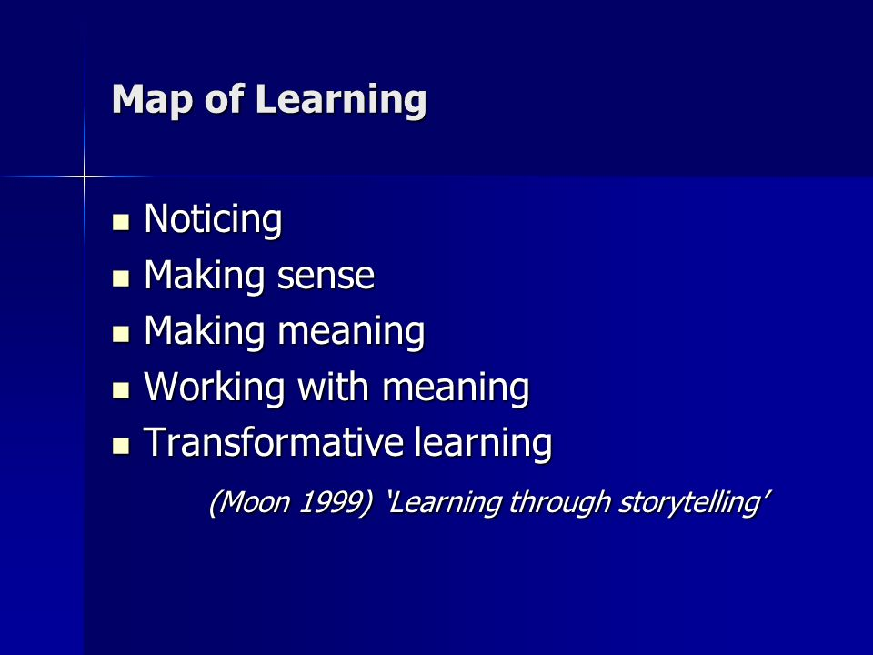 Storytelling process Story finding Story finding Story telling Story telling Story expanding Story expanding Story processing Story processing Story reconstructing Story reconstructing Storytelling process (McDrury and Alterio 2003)