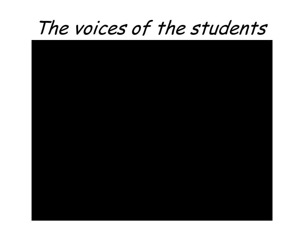 The voices of the students