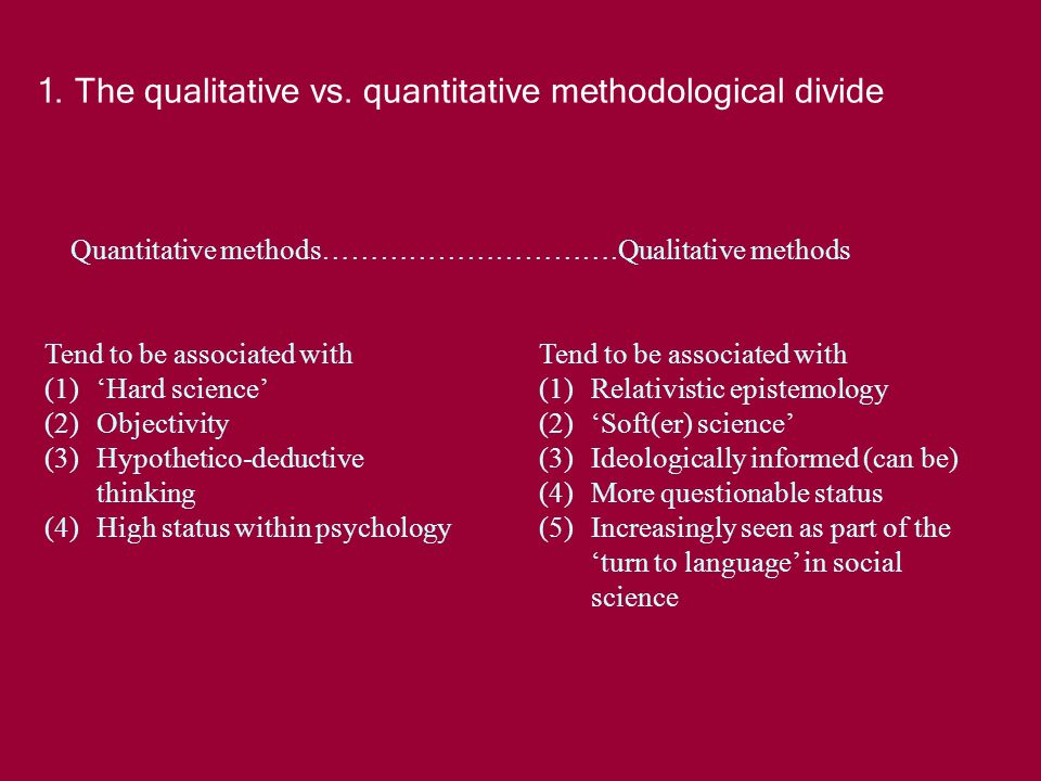 1.The qualitative vs.