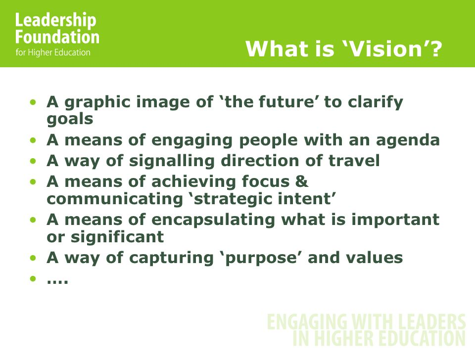 What is Vision.
