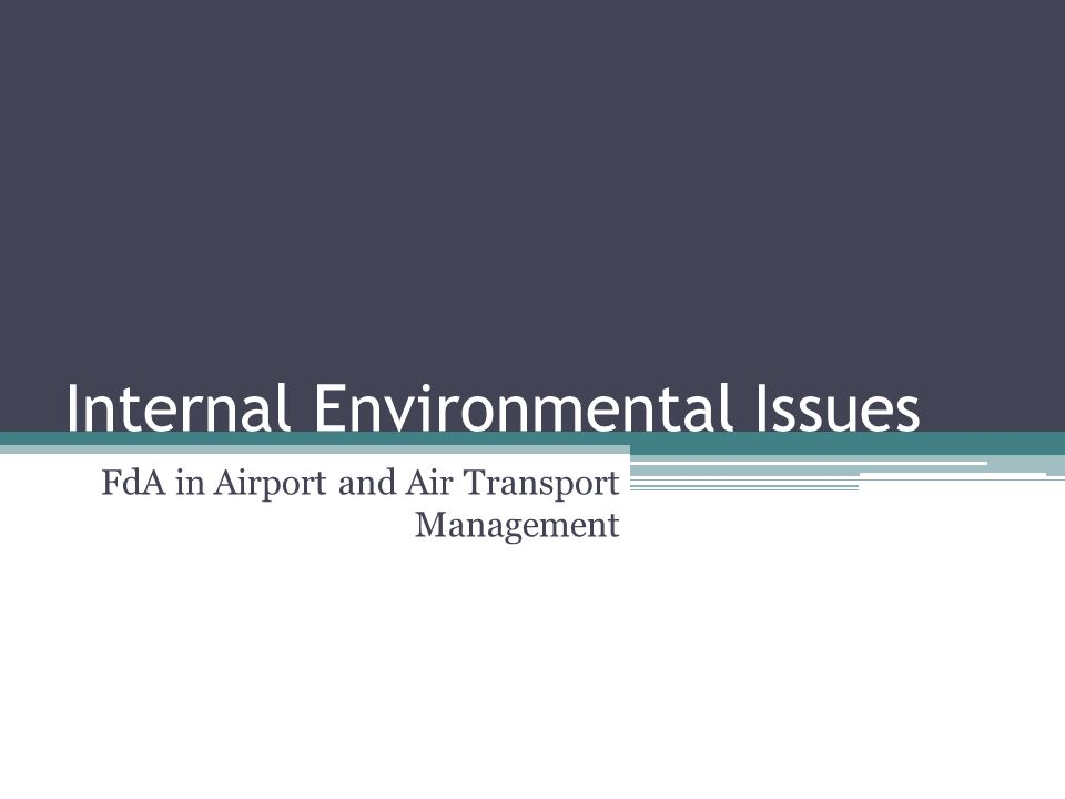 Internal Environmental Issues FdA in Airport and Air Transport Management