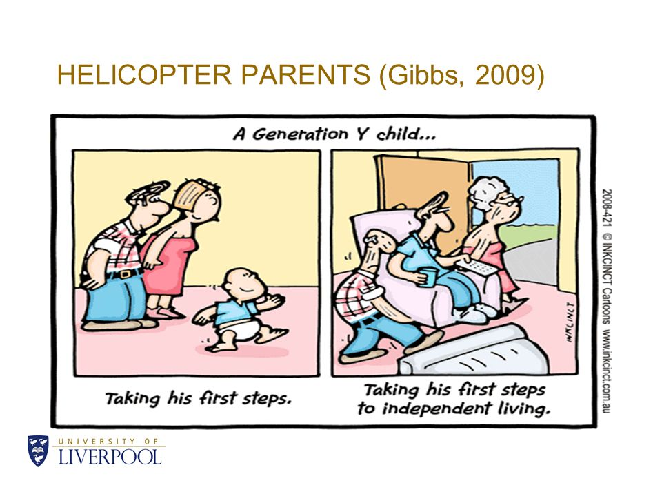 HELICOPTER PARENTS (Gibbs, 2009)