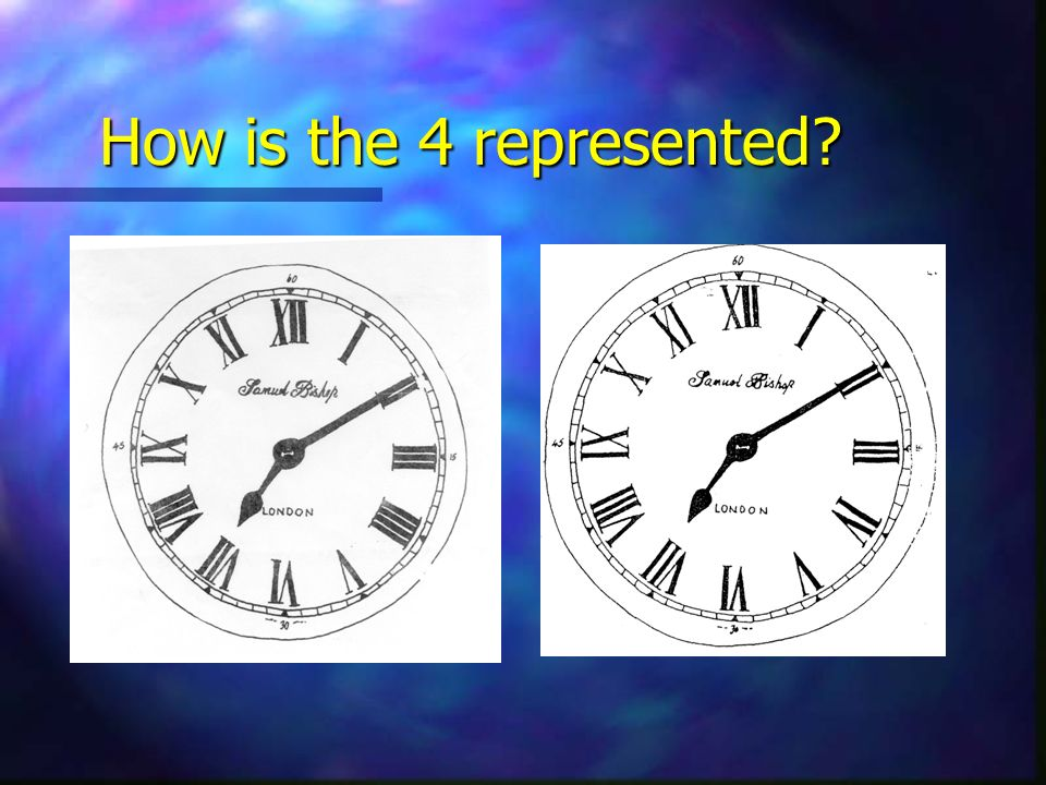 How is the 4 represented?