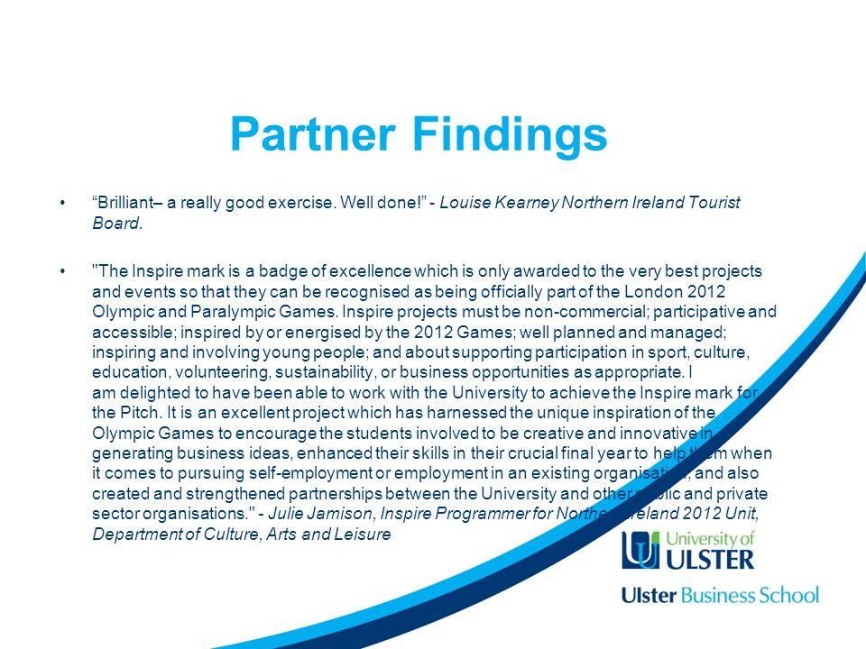 Partner Findings Brilliant– a really good exercise.
