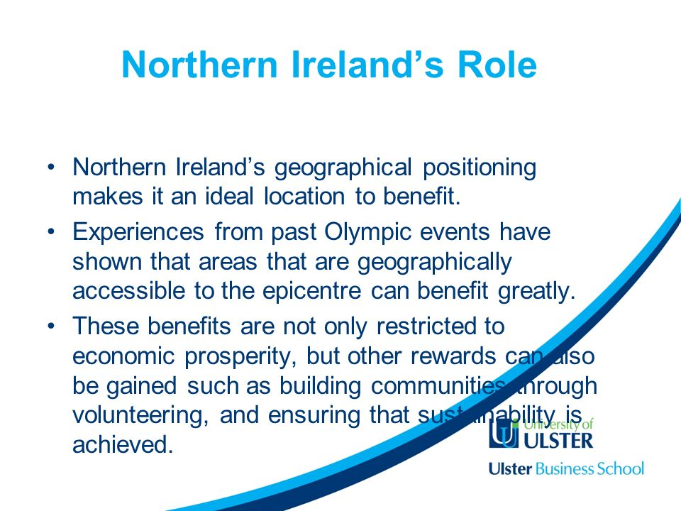 Northern Irelands Role Northern Irelands geographical positioning makes it an ideal location to benefit.