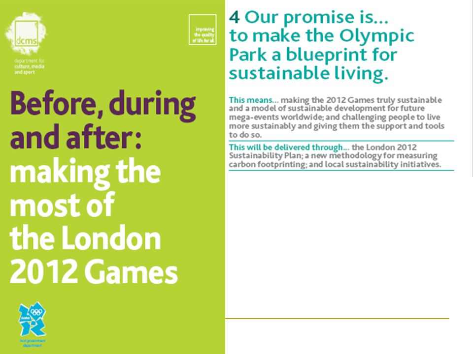 UH Teaching & Learning Funded Project The learning legacy of the future Olympic Games to Enhance the Teaching of Tourism and Sustainable Development ?