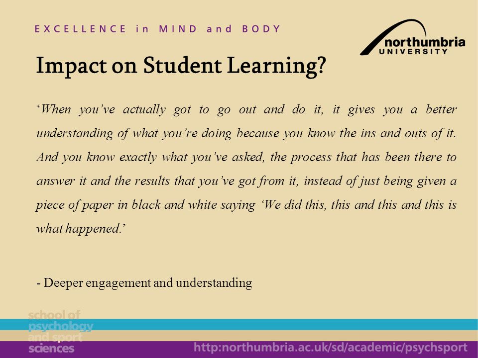 Impact on Student Learning.