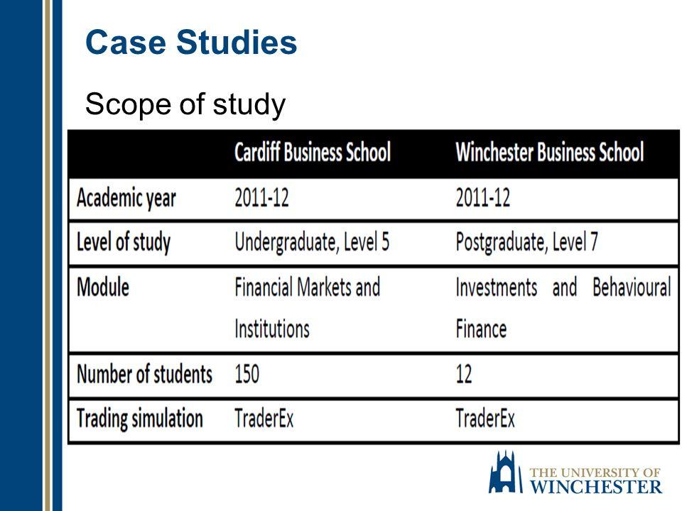 Case Studies Scope of study