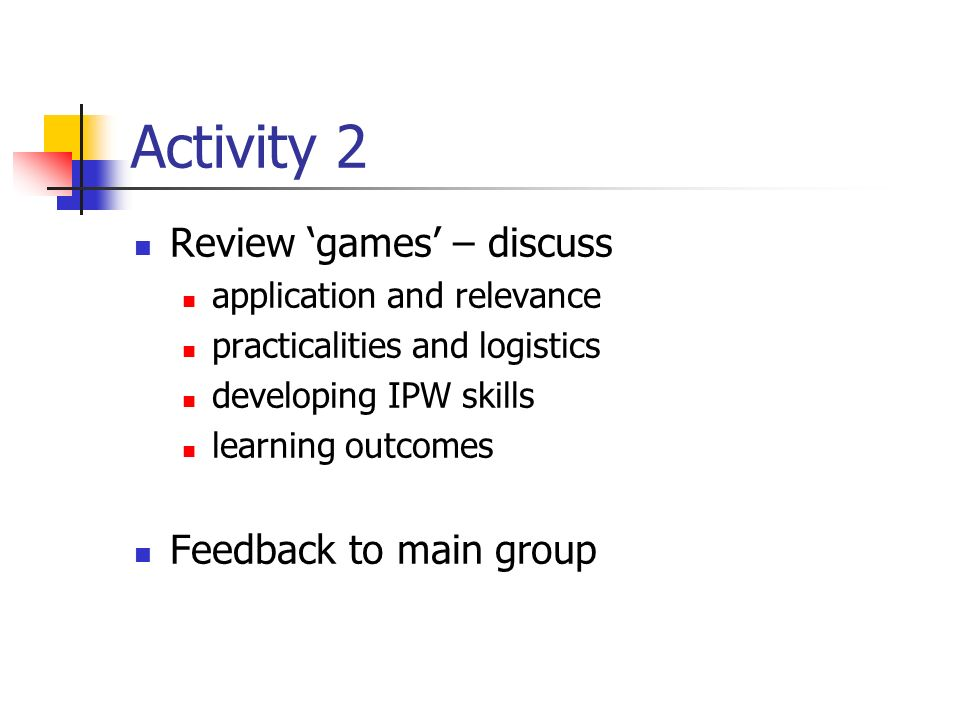 Activity 3 How can we promote and enhance student s critical reflection of their performance in game scenarios?
