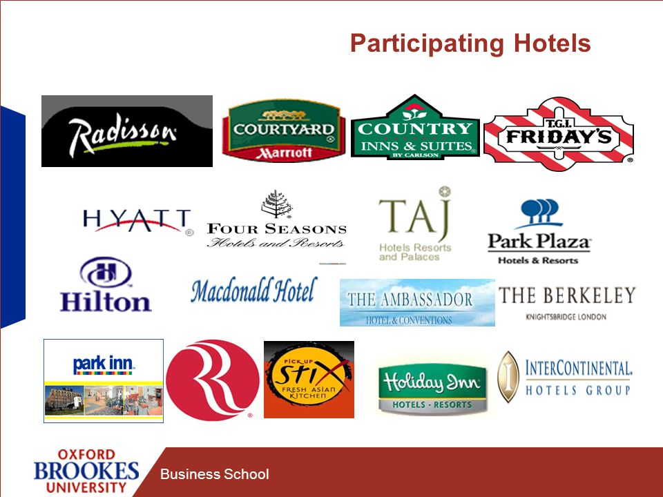Business School Participating Hotels