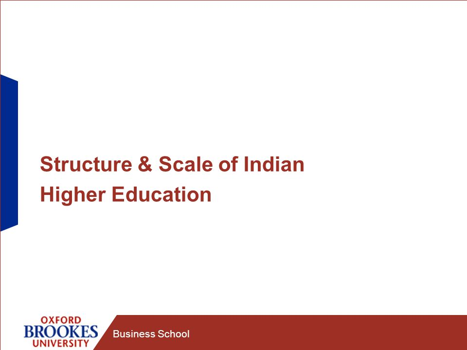 Business School Structure & Scale of Indian Higher Education