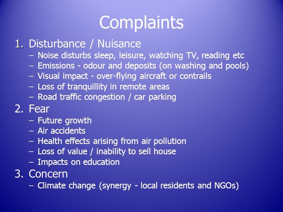 Complaints 1. 1.