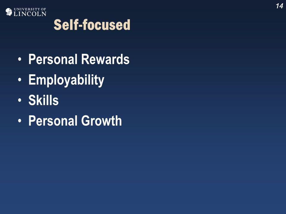 14 Self-focused Personal Rewards Employability Skills Personal Growth 14