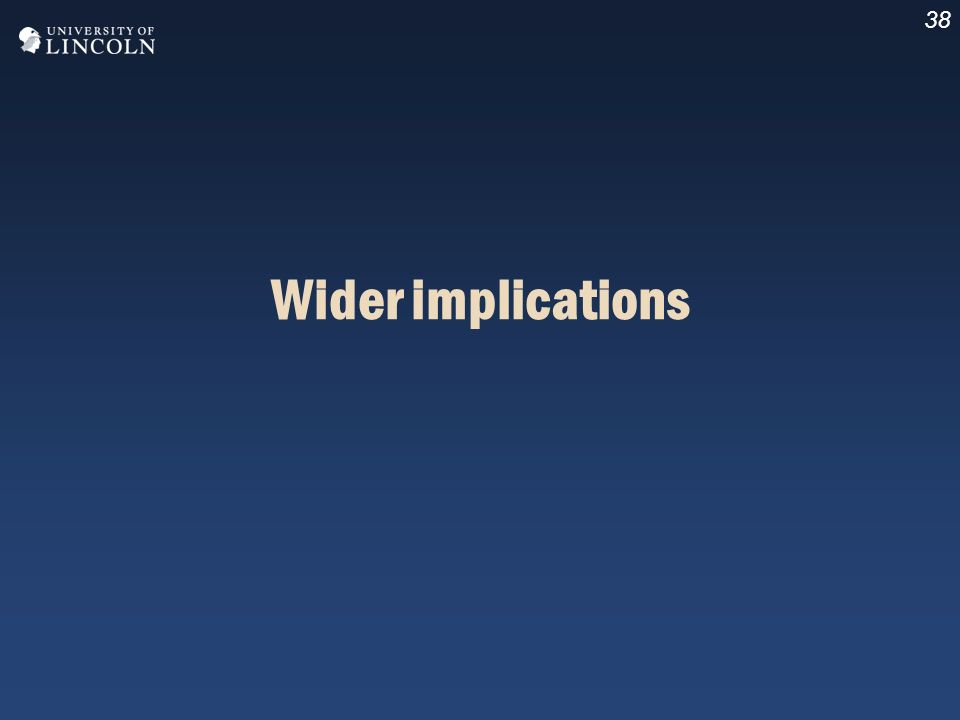 38 Wider implications