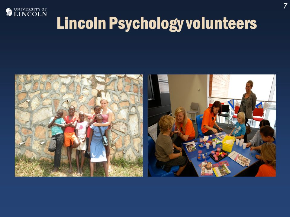 7 Lincoln Psychology volunteers