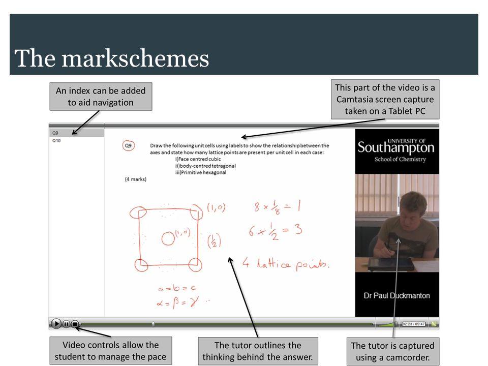 The markschemes