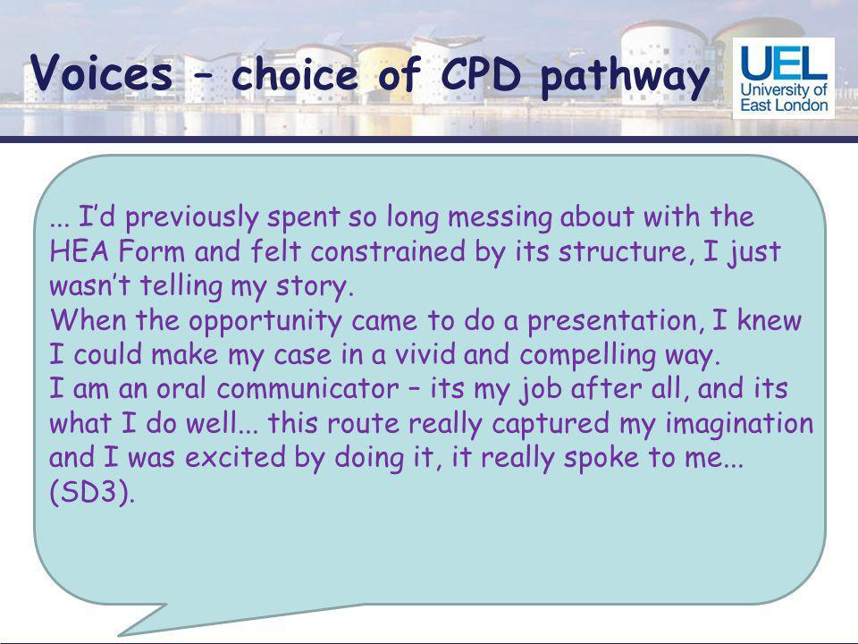 Voices – choice of CPD pathway...