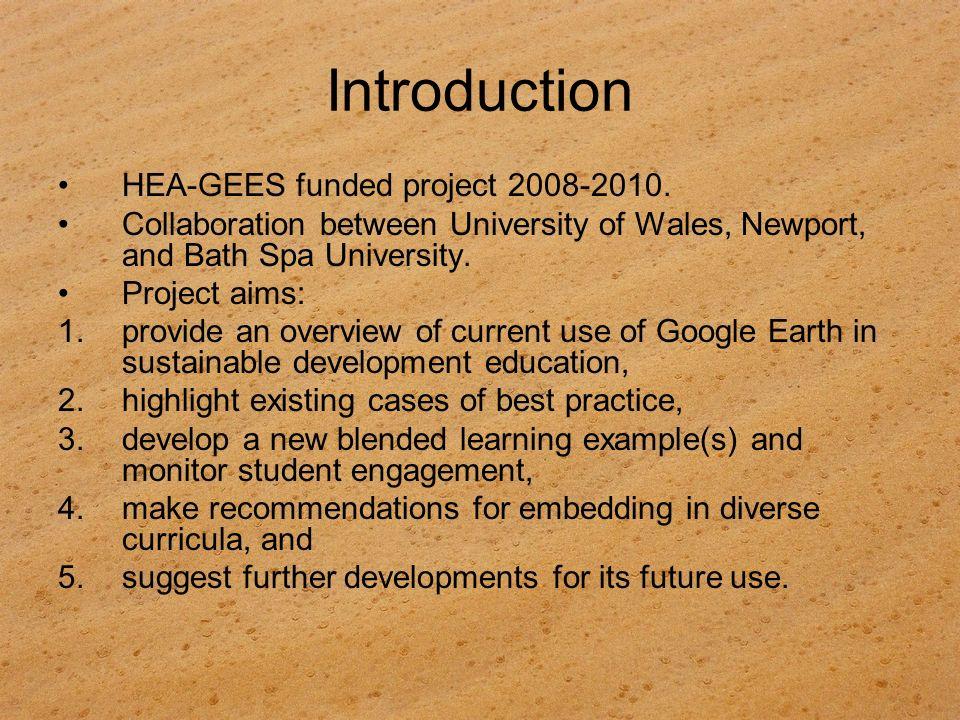 Google Earth and ESD health (e.g.