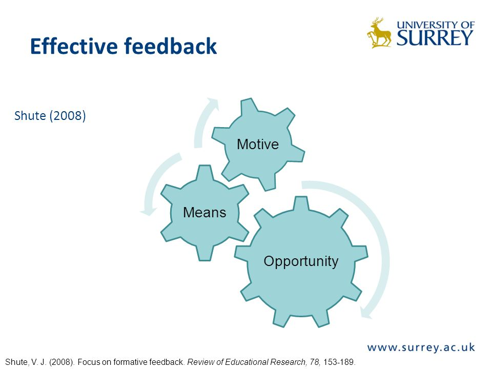 Future directions Look at effects beyond student ratings Chart long-term effects Consider individual differences Socialisation processes –The first session of any course creates a norm for the rest of the module.