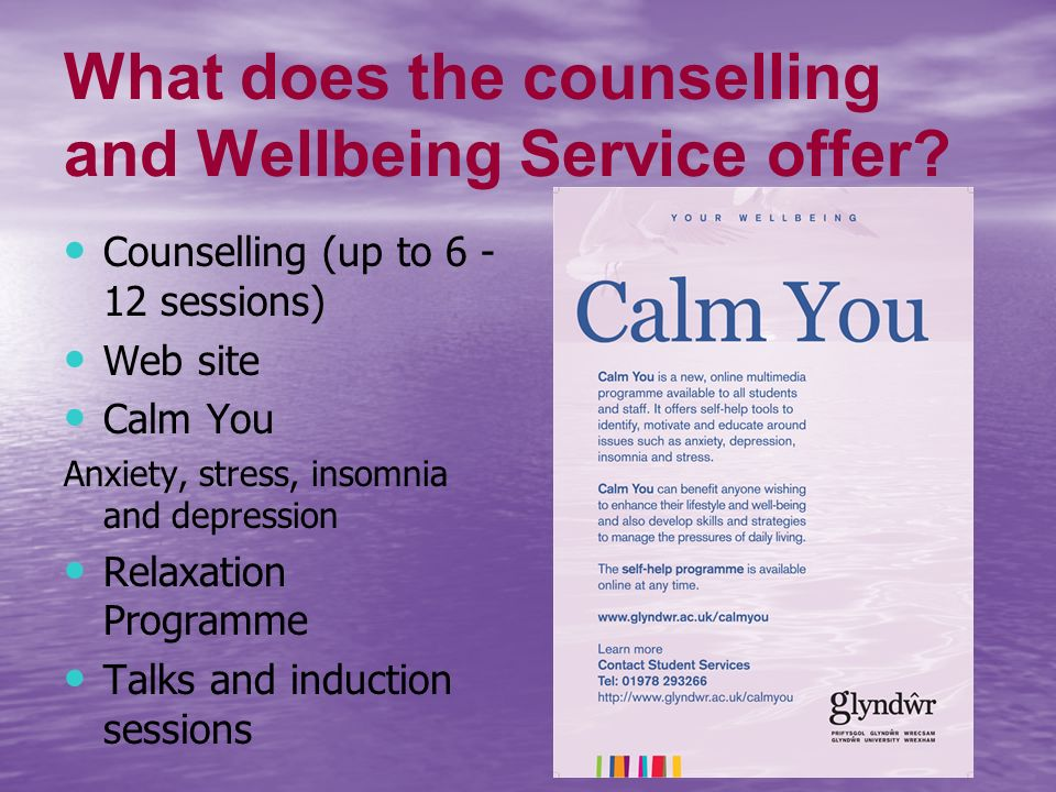 What does the counselling and Wellbeing Service offer.